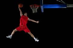 Gracza koszykówki portret Fotografia Royalty Free