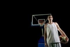 Gracza koszykówki portret Obrazy Royalty Free
