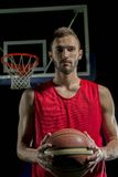 Gracza koszykówki portret Zdjęcie Stock