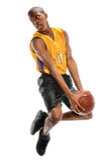 Gracza Koszykówki doskakiwanie Zdjęcie Royalty Free