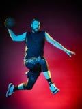 Gracza koszykówki mężczyzna Zdjęcie Royalty Free