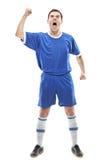gracza krzycząca piłki nożnej pozycja Fotografia Stock