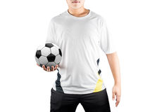 Gracza mienia piłka obraz stock