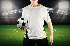 Gracza mienia piłka obraz royalty free