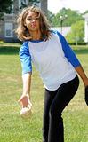 gracza piękny żeński softball Zdjęcie Stock