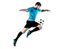 Gracza piłki nożnej mężczyzna Odizolowywający Zdjęcie Stock
