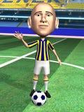 gracza piłki nożnej pozycja Zdjęcie Stock
