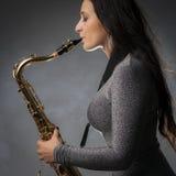 gracza piękny saksofon Obraz Stock
