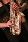 gracza saksofon Obrazy Royalty Free