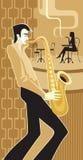 gracza saksofon Obraz Royalty Free