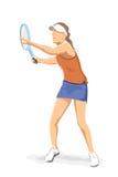 gracza tenis Obrazy Royalty Free