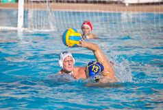 gracza waterpolo Obrazy Royalty Free