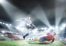 Gracze futbolu zdjęcie stock