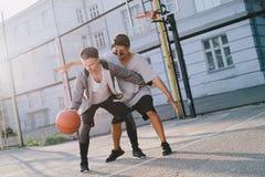 Gracze koszykówki Obrazy Royalty Free