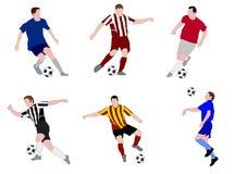 Gracze piłki nożnej Obraz Royalty Free