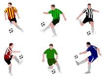 Gracze piłki nożnej 2 Zdjęcie Stock