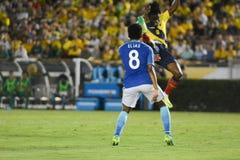 Gracze piłki nożnej Elias 8 i Gil 4 podczas Copa Ameryka Centenario Fotografia Royalty Free