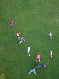 Gracze piłki nożnej, Wiedeń Zdjęcie Royalty Free