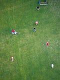 Gracze piłki nożnej, Wiedeń Zdjęcia Royalty Free
