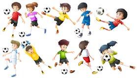 Gracze piłki nożnej Zdjęcie Royalty Free