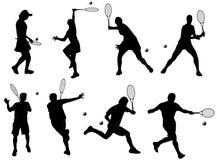 gracze tenisowe Fotografia Royalty Free