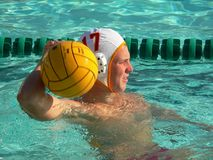 graczem polo wody Fotografia Stock