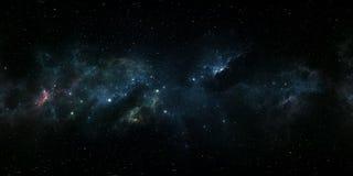360-Grad-Abstandsnebelfleckpanorama, equirectangular Projektion, Umweltkarte Kugelförmiges Panorama HDRI Nächtlicher Himmel mit v vektor abbildung