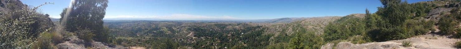 180-Grad-Ansicht von La cumbrecita Lizenzfreies Stockfoto