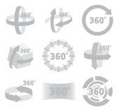 360 Grad Ansichtzeichen lizenzfreie abbildung