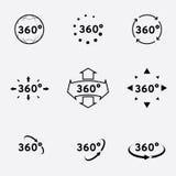360 Grad Ansichtzeichen Lizenzfreies Stockbild