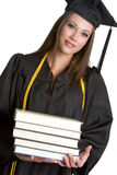 Grad With Books. Young female grad with books Stock Photos