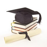 Grad Cap Diploma Books 1 Royalty Free Stock Images