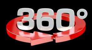 360 Grad 3D übertragen Ikone vektor abbildung