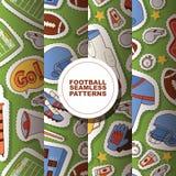 Grad för fotboll för soccerball för modell för fotbollvektor sömlös och sportswear av fotbollsspelare- eller soccerplayerillustra arkivbild