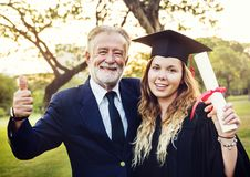 Grad at graduation ceremony royalty free stock photo