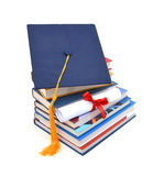 Grad Hat And Diploma Stock Photo