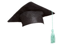 Grad hat on white Stock Images