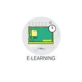 Grad-on-line-Lernenteleunterricht-Ikone Stockfotografie