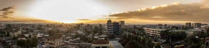 180 grad panorama av Addis Ababa Royaltyfri Foto