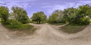 360 Grad Panorama der Erholung und Kultur parken in Plovd Lizenzfreies Stockbild
