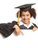 Grad pointing at copy space royalty free stock images