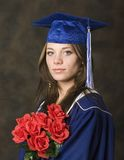 Grad portrait. Portrait of female highschool graduate Royalty Free Stock Image