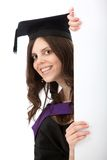 Grad student with a banner Stock Photos