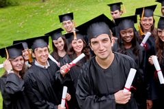 Grad students Royalty Free Stock Photo