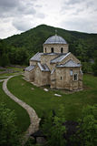 Gradac Monastery. Serbian Orthodox monastery Gradac is located in the central part of Serbia, near the town of Raska Royalty Free Stock Photo