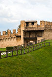 Gradara castle in Rimini Stock Images
