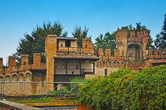 Gradara castle under a clear sky Royalty Free Stock Photography