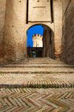 The Gradara Fortress in Italy stock image