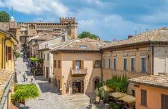 Gradara liten stad i landskapet av Pesaro Urbino, i den Marche regionen av Italien royaltyfri bild