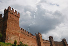 Gradara s Schloss. Lizenzfreies Stockfoto